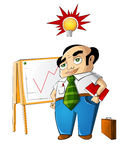 Businessman Have An Idea. Illlustration Stock Photography