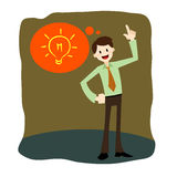 Businessman have an idea Stock Photography
