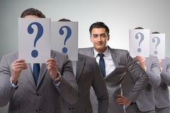 The businessman having answer to many questions Royalty Free Stock Photography