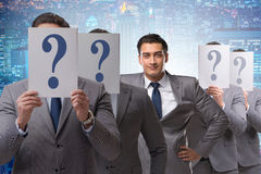 The businessman having answer to many questions Stock Photo