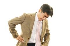 Businessman having back pain Royalty Free Stock Image