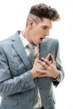 Businessman Having A Chest Pain royalty free stock photos