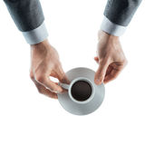 Businessman having a coffee break Royalty Free Stock Photo