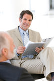 Businessman having discussion Stock Photo