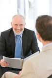 Businessman having discussion Stock Photography