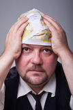 Businessman having financial problems Stock Image