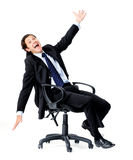 Businessman having fun Royalty Free Stock Images