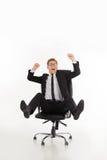 Businessman having fun. Royalty Free Stock Image