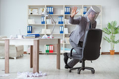 The businessman having fun taking a break in the office at work Stock Photos