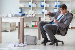 The businessman having fun taking a break in the office at work Royalty Free Stock Photography