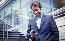 Businessman Having A Good News Royalty Free Stock Photos