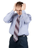 Businessman having a headache Stock Photos