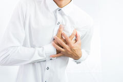 Businessman having heart attack isolate Stock Photography