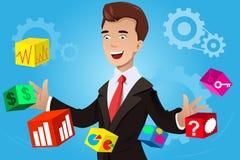 Businessman having an idea concept. A vector illustration of businessman having an idea concept vector illustration