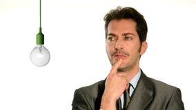 Businessman having an idea stock video