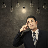 Businessman having an idea Royalty Free Stock Photography