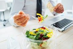 Businessman having a lunch break Stock Photo