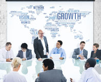 Businessman Having a Presentation About Growth Royalty Free Stock Photo