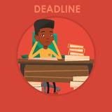 Businessman having problem with deadline. Royalty Free Stock Images