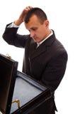 Businessman having problems Stock Photography