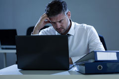 Businessman having problems at work Stock Photo