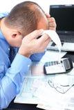 Businessman having stress Royalty Free Stock Photo