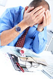 Businessman having stress Royalty Free Stock Photos