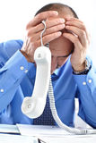 Businessman having stress Royalty Free Stock Photo