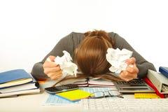 Businessman having stress Royalty Free Stock Image