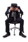 Businessman having stress Royalty Free Stock Images