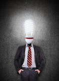 Businessman with head lamp Royalty Free Stock Images