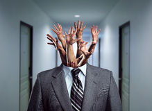 Businessman without head Royalty Free Stock Images