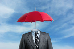 Businessman without head Royalty Free Stock Image