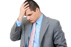 Businessman with Headache Stock Image