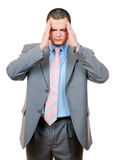 Businessman with Headache Stock Images