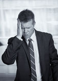 Businessman headache Royalty Free Stock Photography