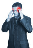 Businessman with headache Royalty Free Stock Photos