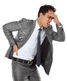 Businessman with a headache Royalty Free Stock Image