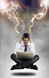 Businessman headache Stock Photos