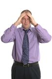 Businessman with a headache. Stock Photo