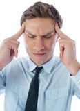 Businessman with a headache Stock Photo