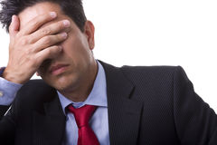 Businessman headache royalty free stock image