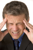 Businessman With Headache Stock Photo