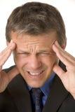 Businessman With Headache Stock Photo