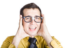 Businessman with headache Royalty Free Stock Photography