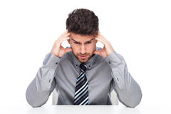 Businessman with a headache Stock Photography