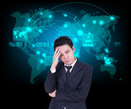 Businessman headaches Stock Images