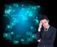 Businessman headaches Stock Photo