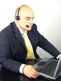Businessman with headset Stock Photo