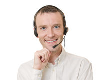 Businessman with headset Stock Photography
